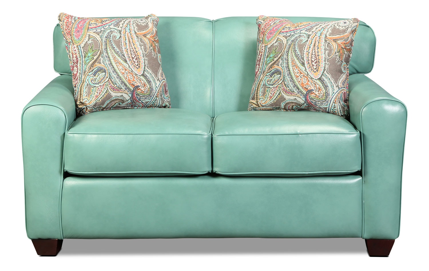 Linden Twin Sleeper Sofa - Aqua