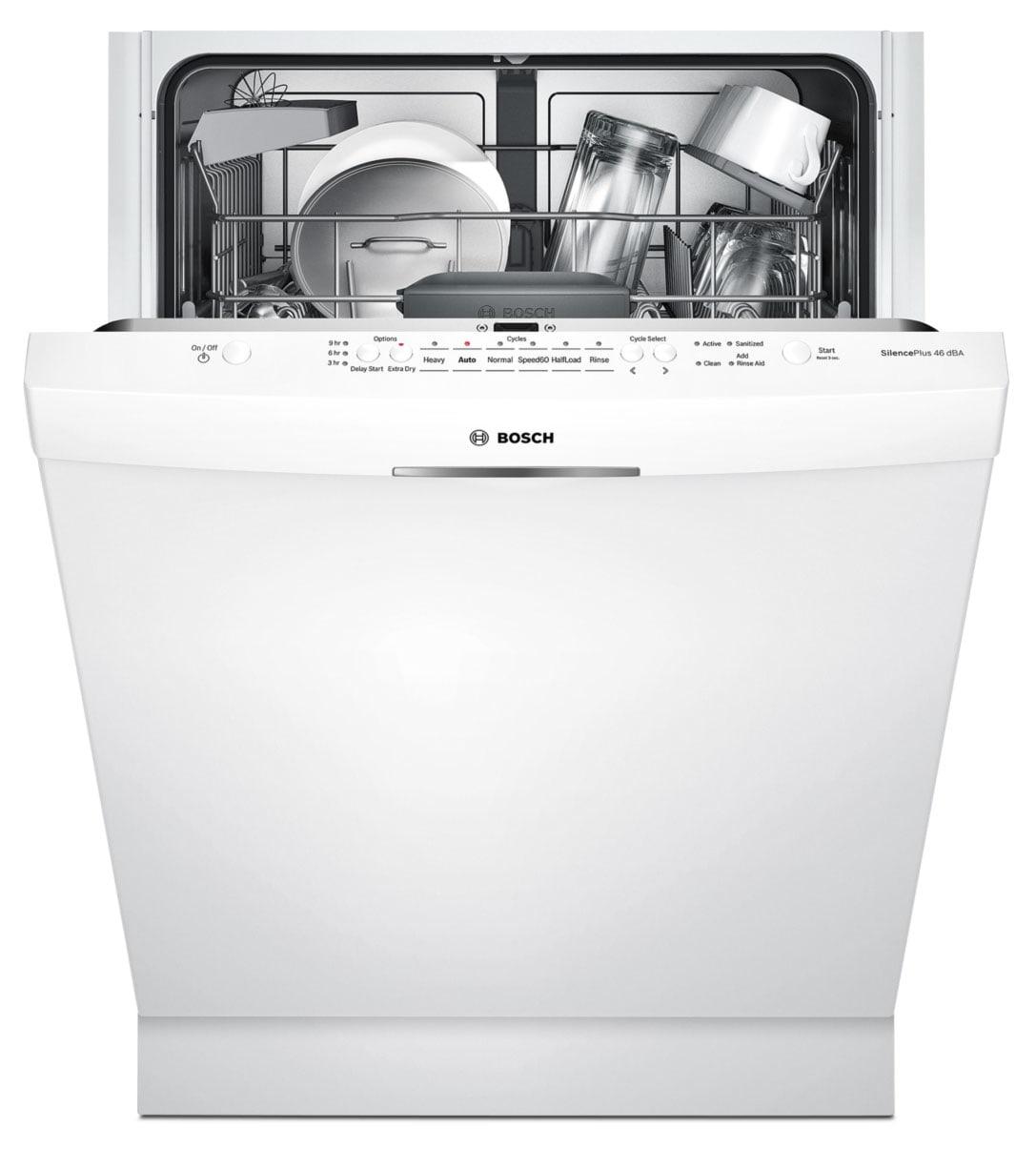 Small Dish Washer Bosch White 24 Dishwasher Shs5av52uc Leons