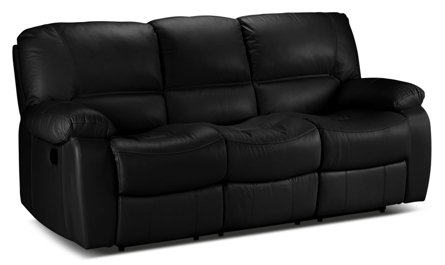Living Room Furniture - Piermont Reclining Sofa - Black