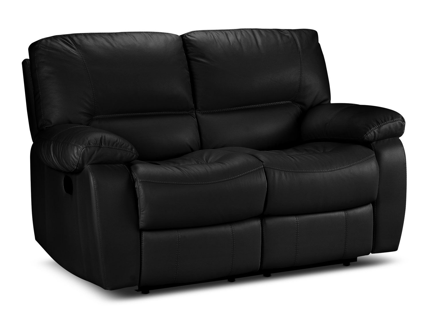 Living Room Furniture - Piermont Reclining Loveseat - Black