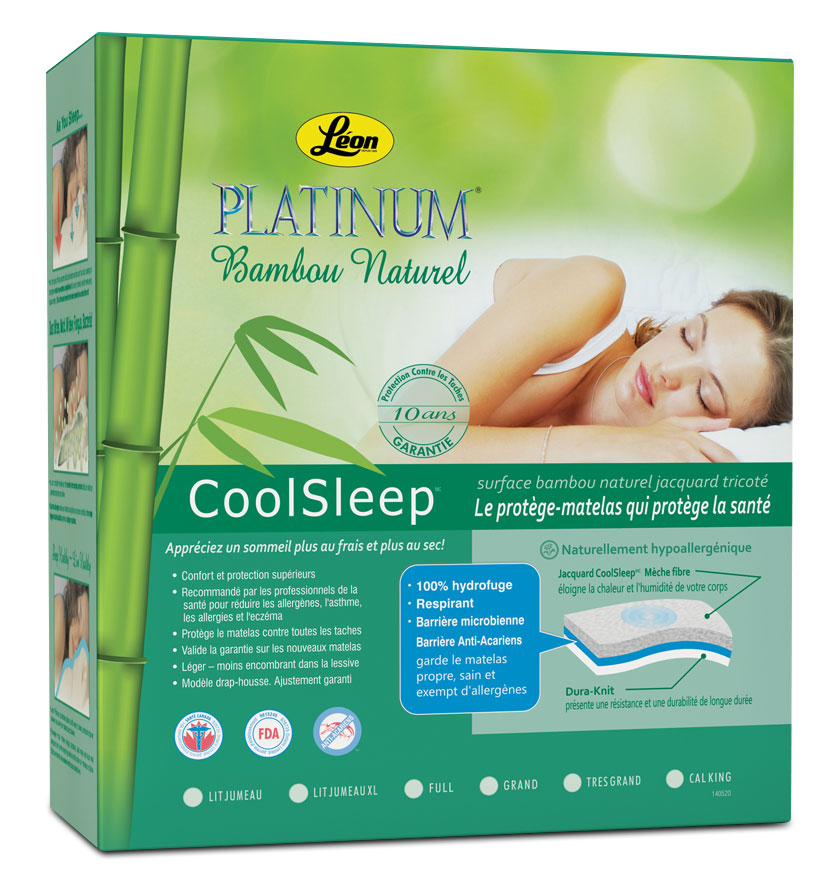 Platinum Protège-matelas grand - bambou