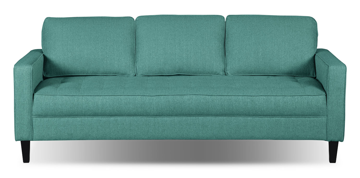 Paris Linen-Look Fabric Sofa – Ocean