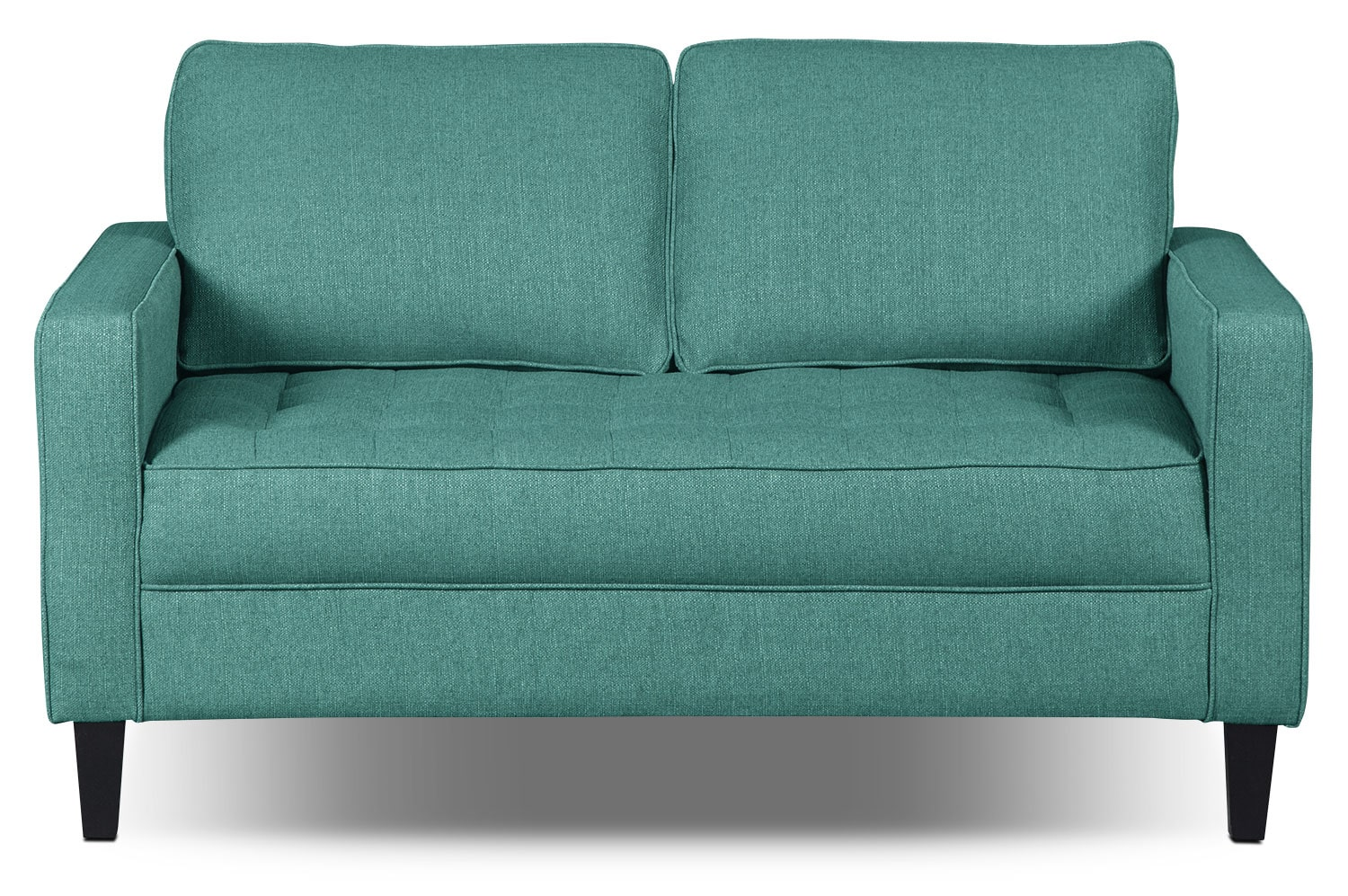 Paris Linen-Look Fabric Loveseat – Ocean