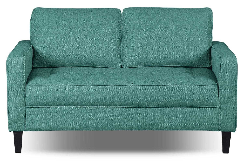Living Room Furniture - Paris Linen-Like Fabric Loveseat – Ocean
