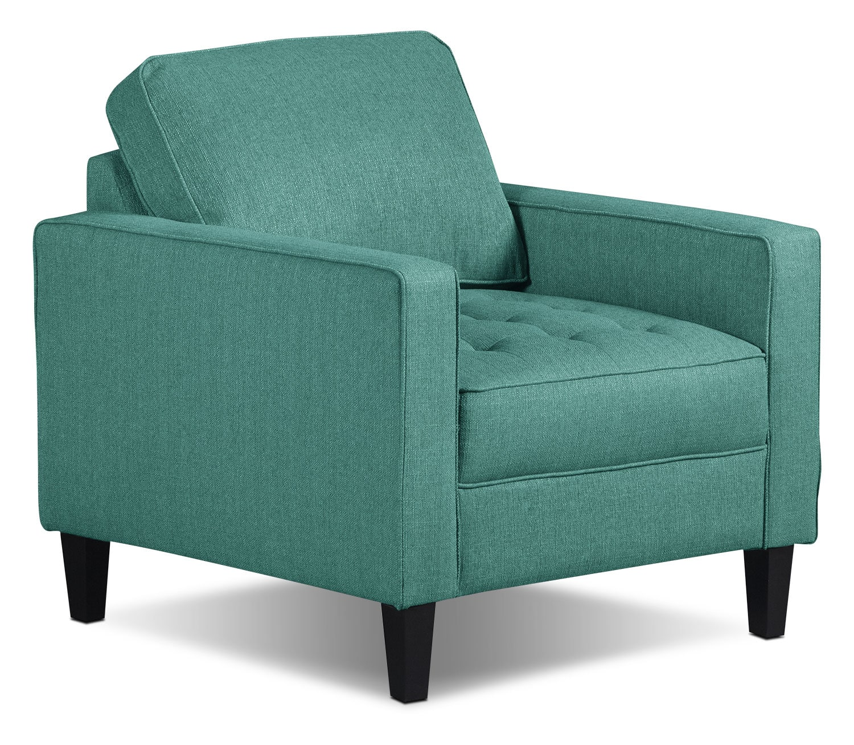 Living Room Furniture - Paris Linen-Look Fabric Chair – Ocean