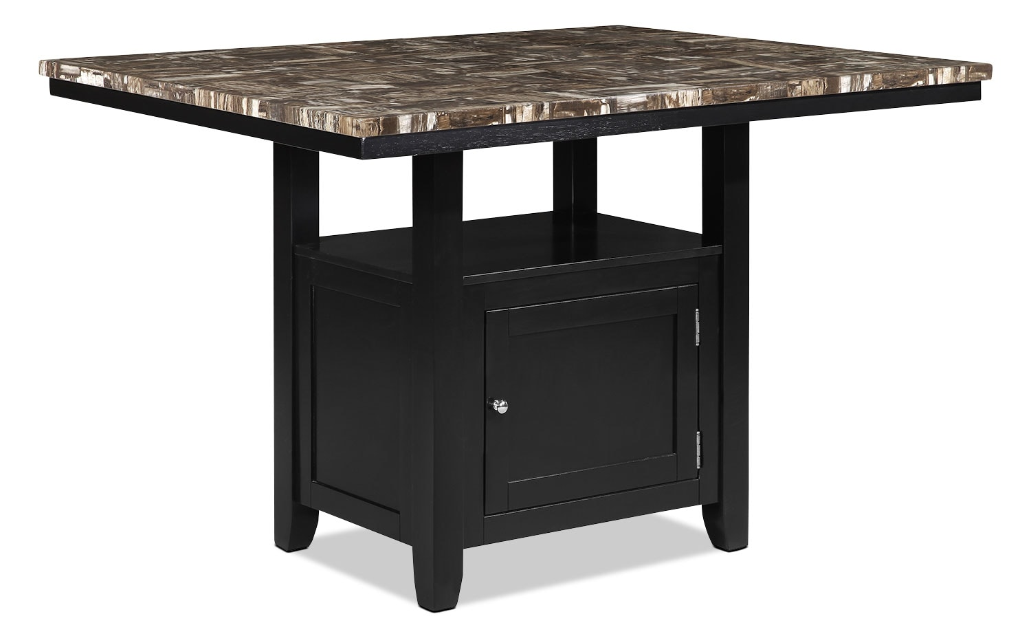 Vale counter height dining table with storage the brick for Dining room tables with storage