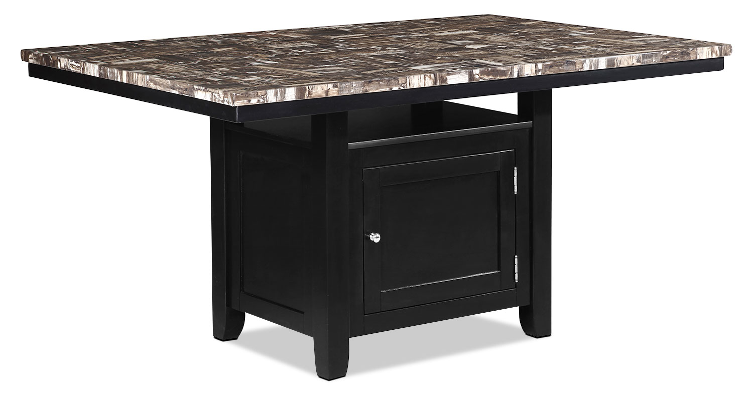 Vale dining table with storage the brick for Dining room tables with storage