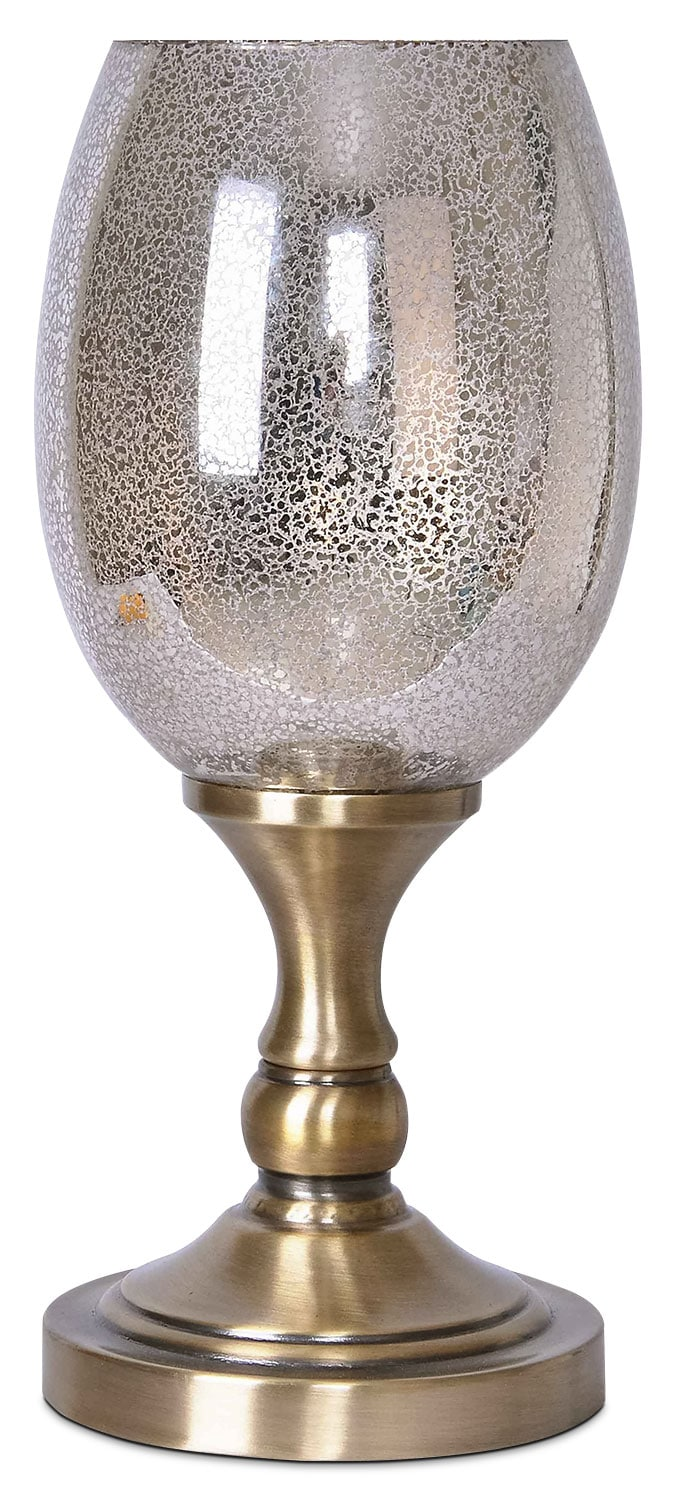 Metal And Mercury Glass Uplight Table Lamp The Brick