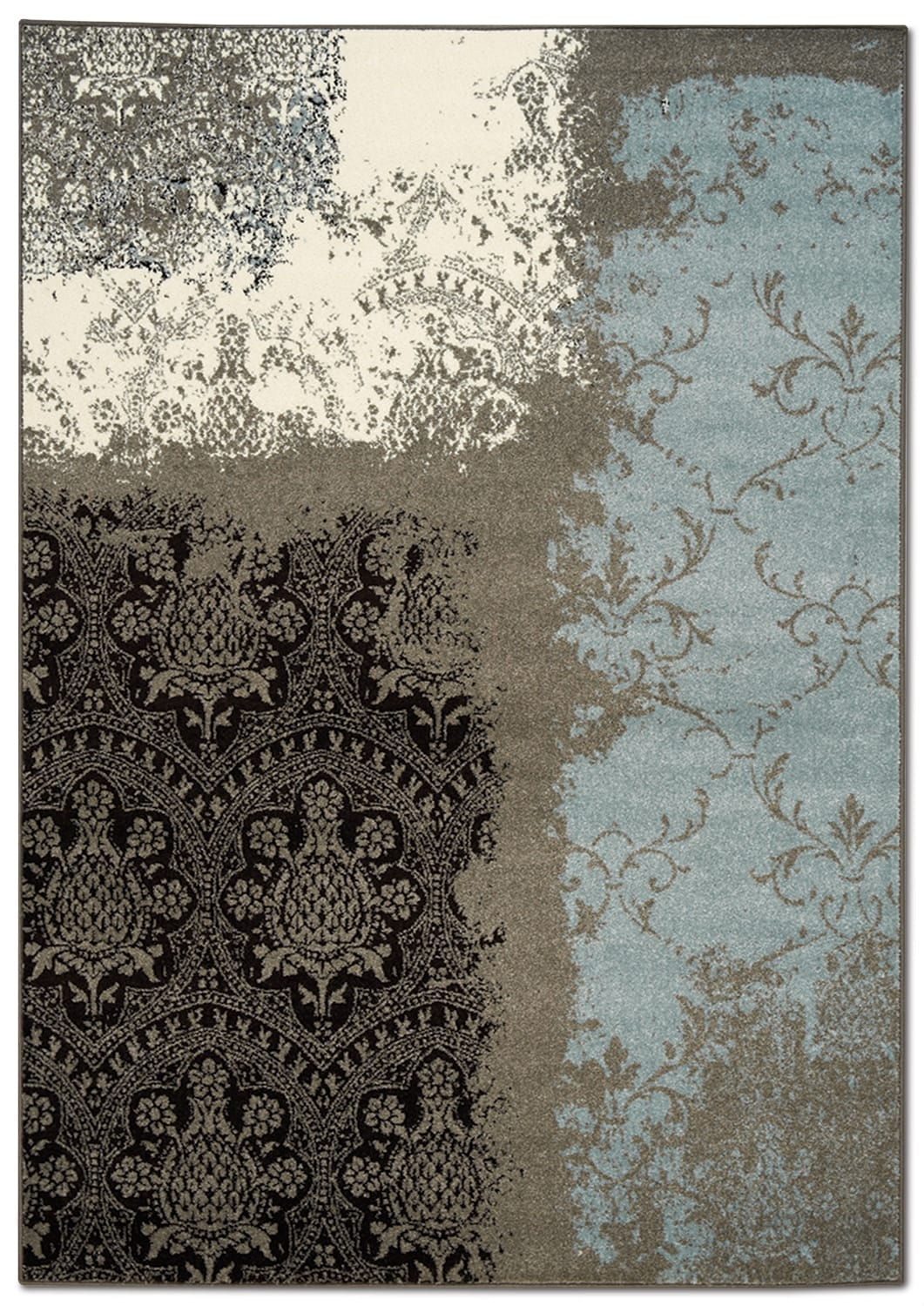 Aldridge 5' x 8' Area Rug - Blue and Brown