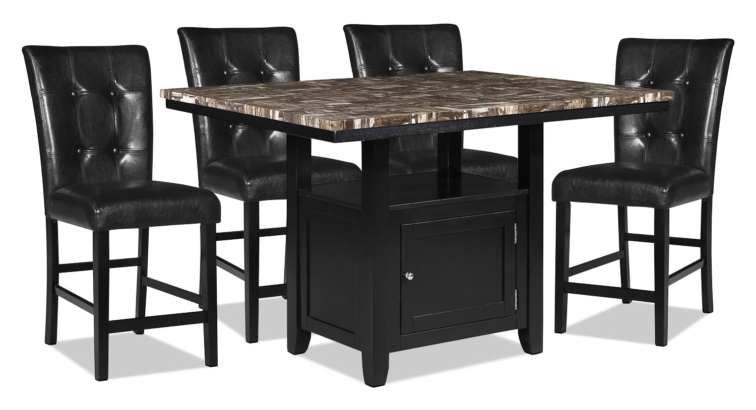 Dining Room Furniture - Vale 5-Piece Counter-Height Dining Package