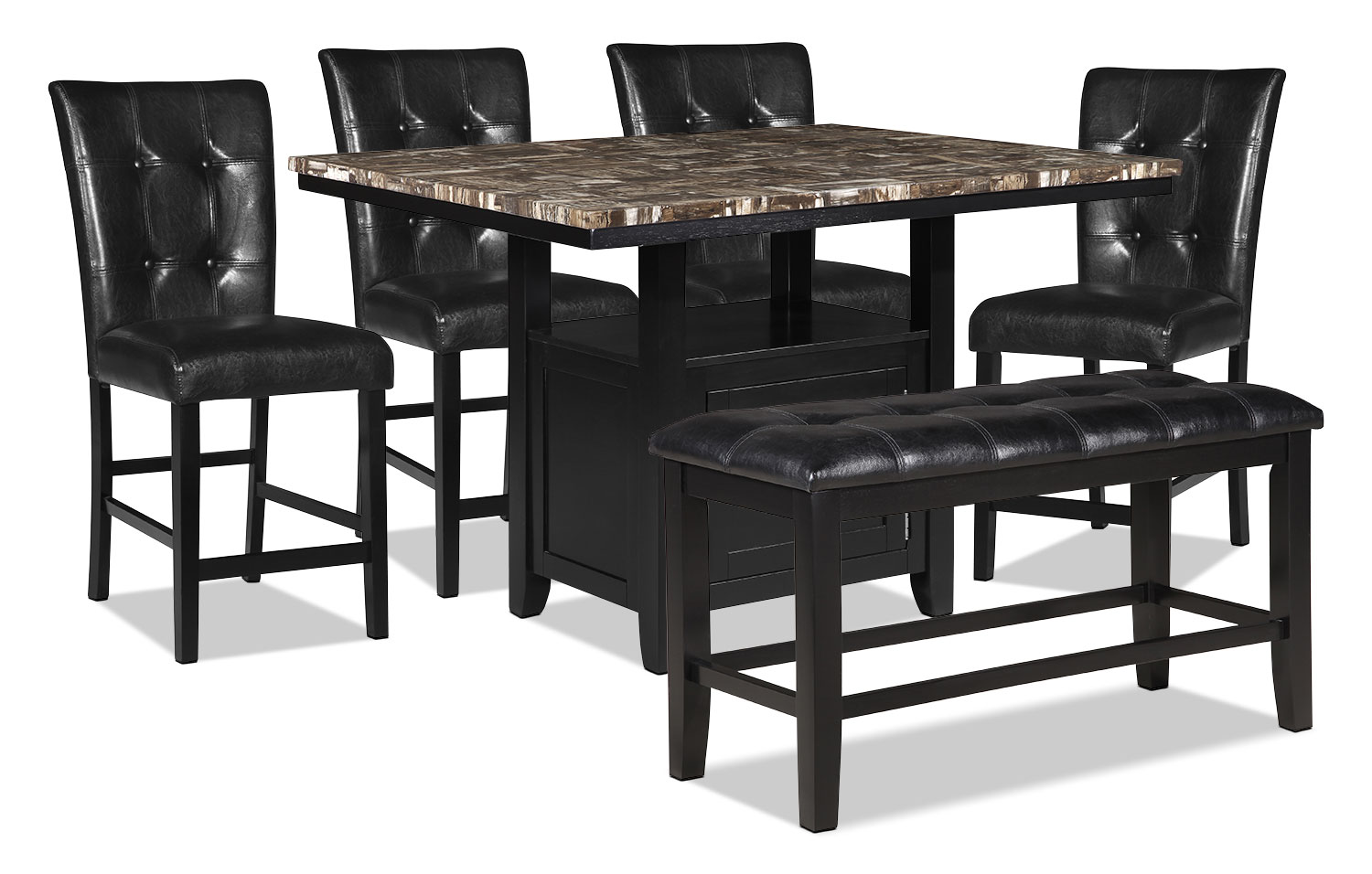 Dining Room Furniture - Vale 6-Piece Counter-Height Dining Package