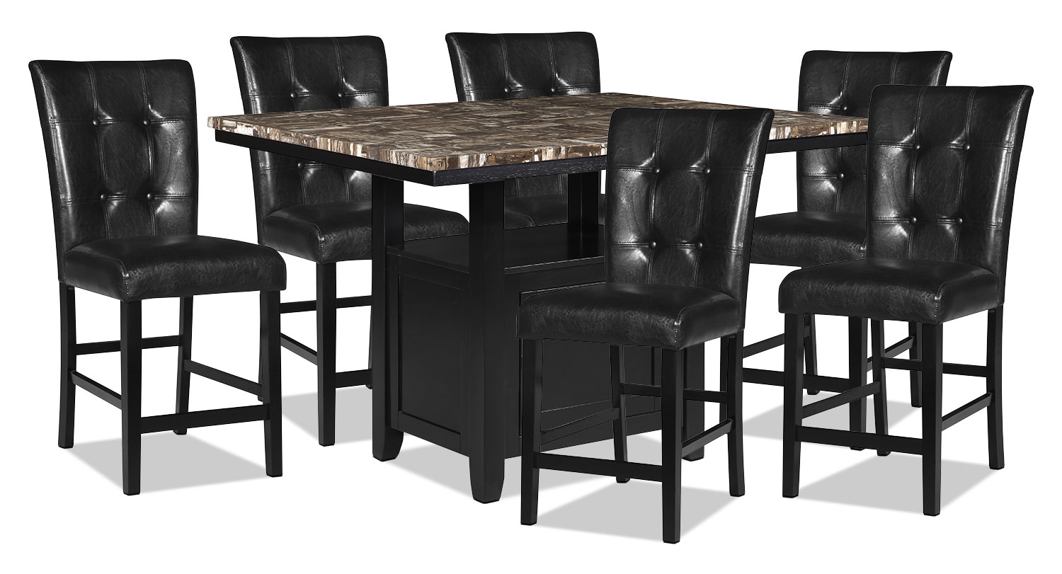 Dining Room Furniture - Vale 7-Piece Counter-Height Dining Package