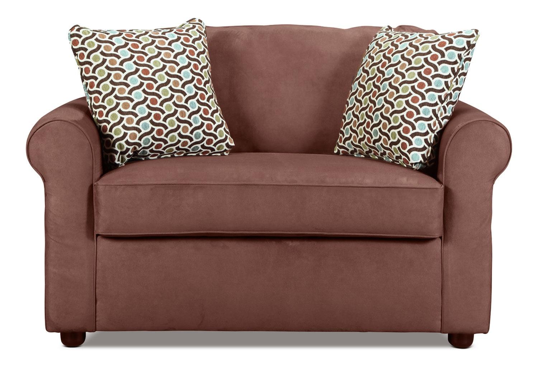 Living Room Furniture - Freedom Twin Sleeper Chair - Chocolate