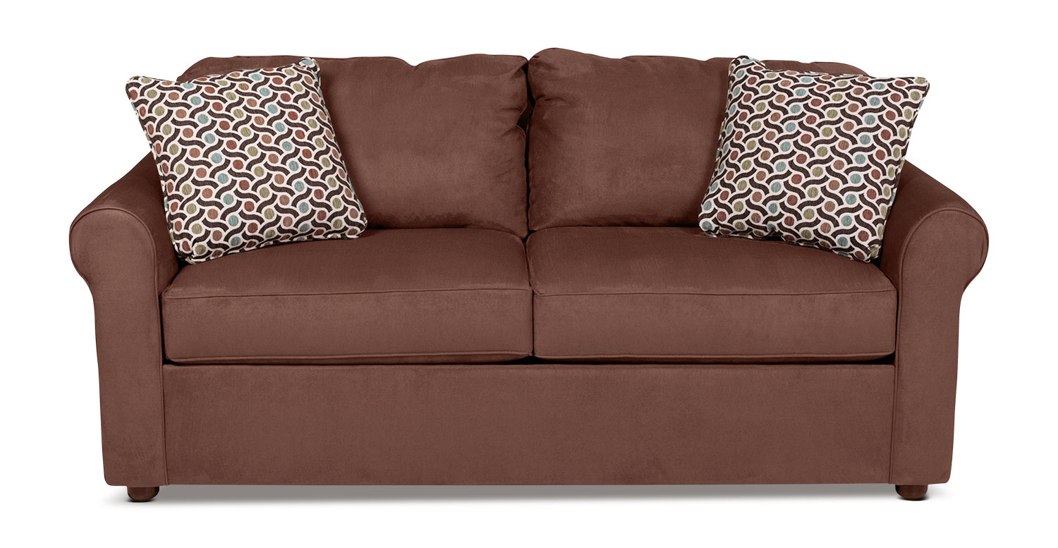 Living Room Furniture - Freedom Full Sleeper Sofa - Chocolate