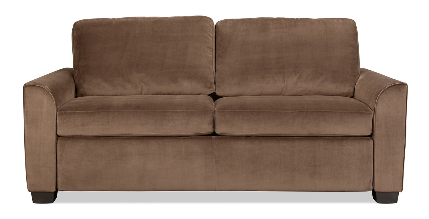 Levin Signature Queen Sleeper Sofa - Walnut