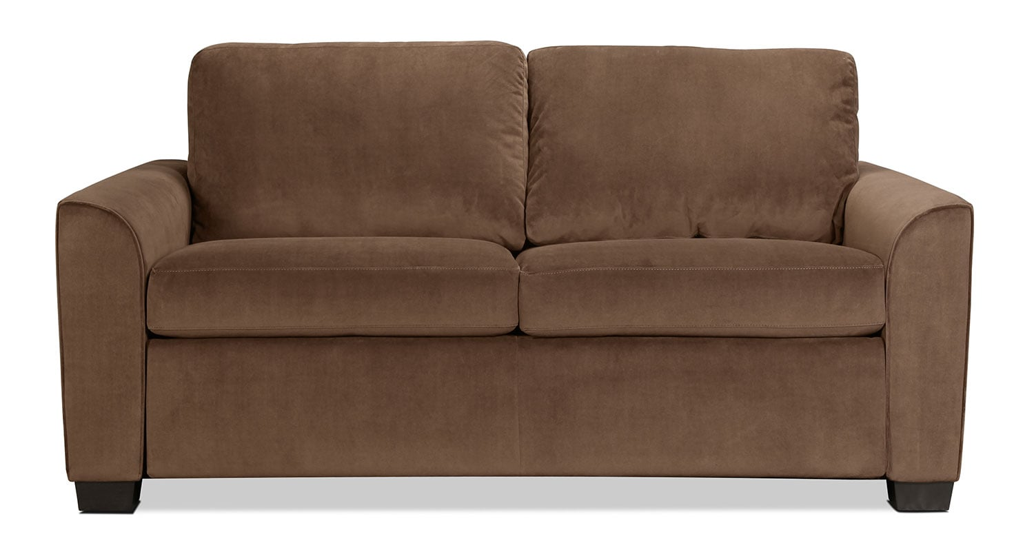 Levin Signature Full Sleeper Sofa - Walnut