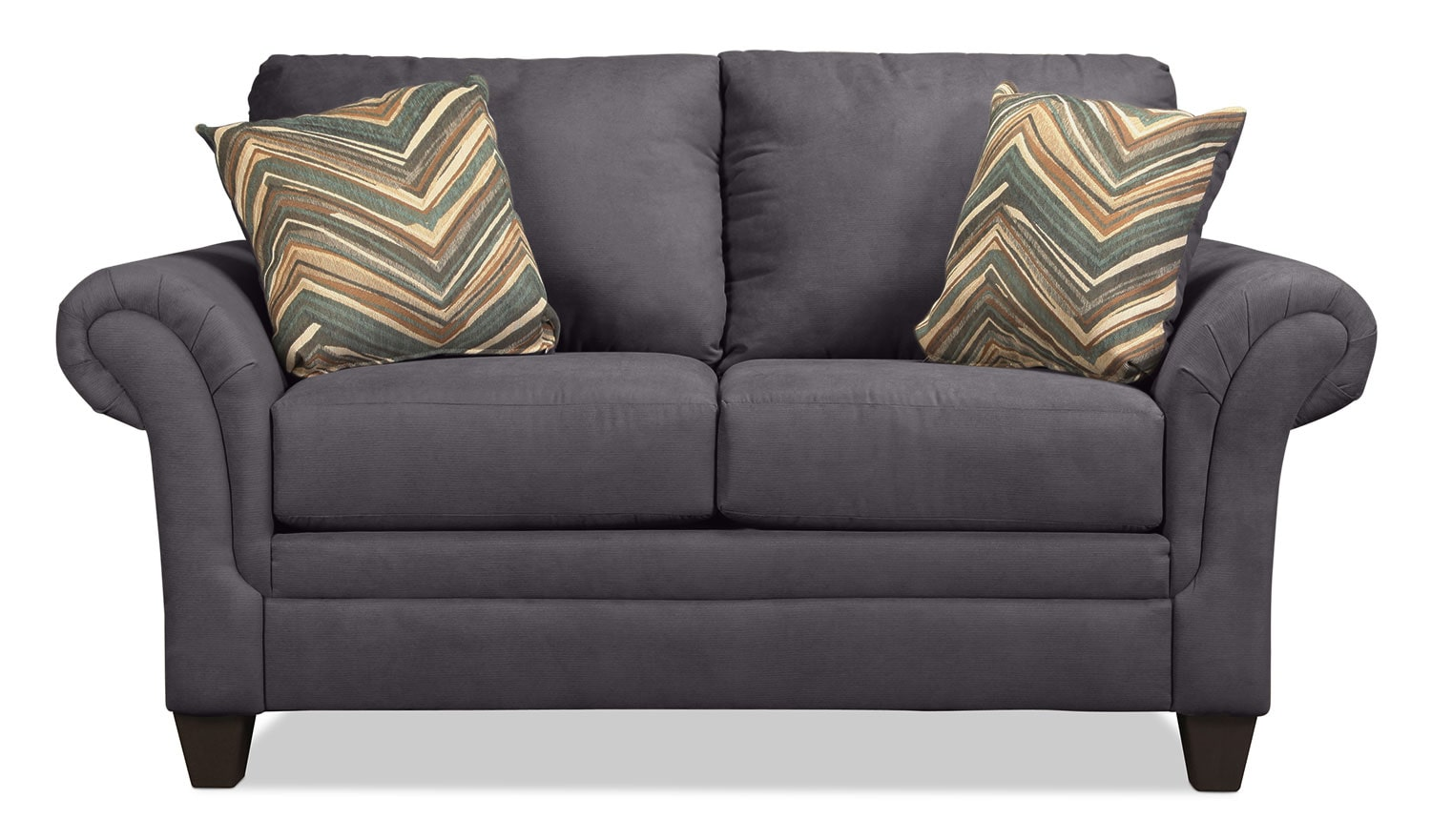 Living Room Furniture - Vancouver Loveseat - Gunmetal