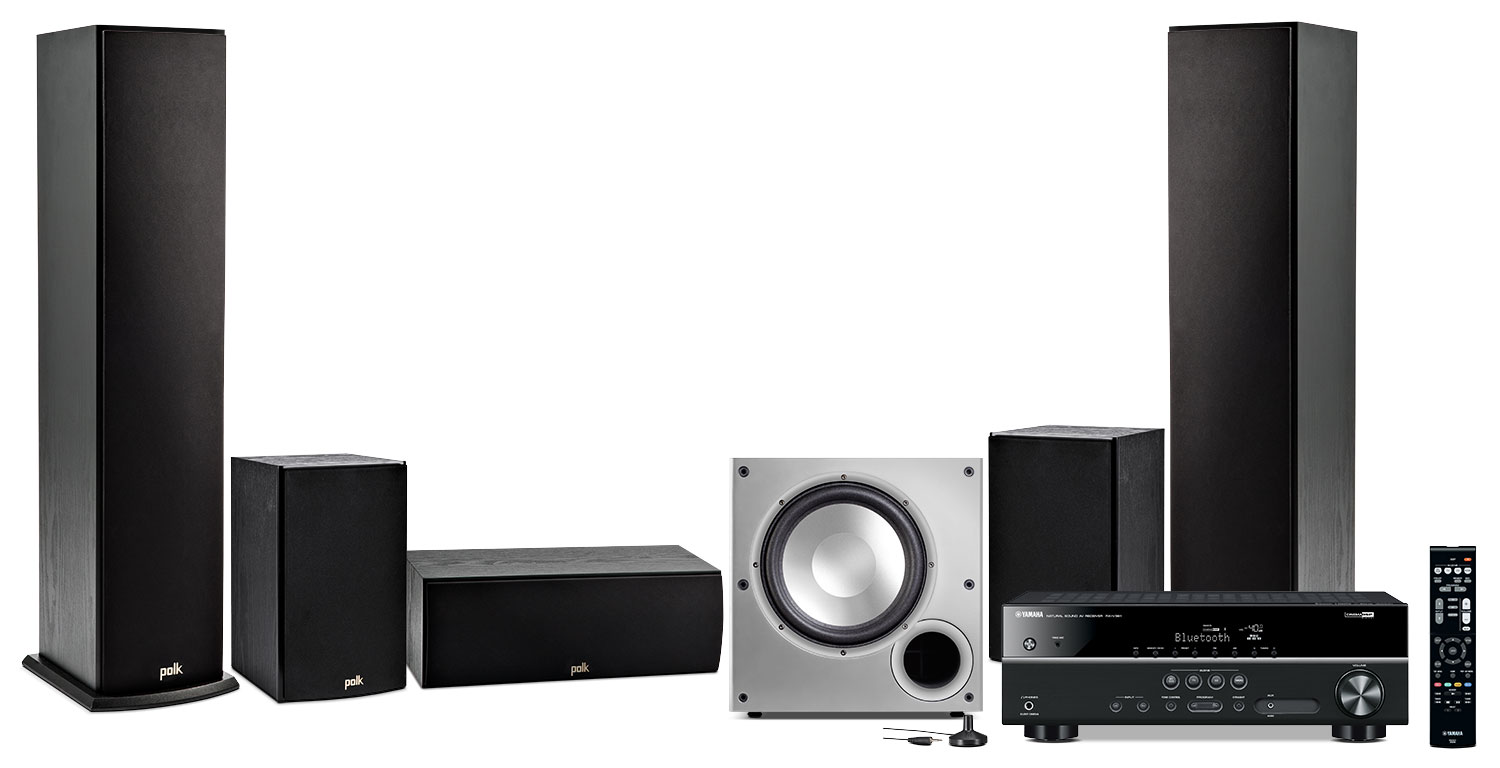 Sound Systems - Yamaha RX-V381 Home Theatre Package with Polk Audio Speakers