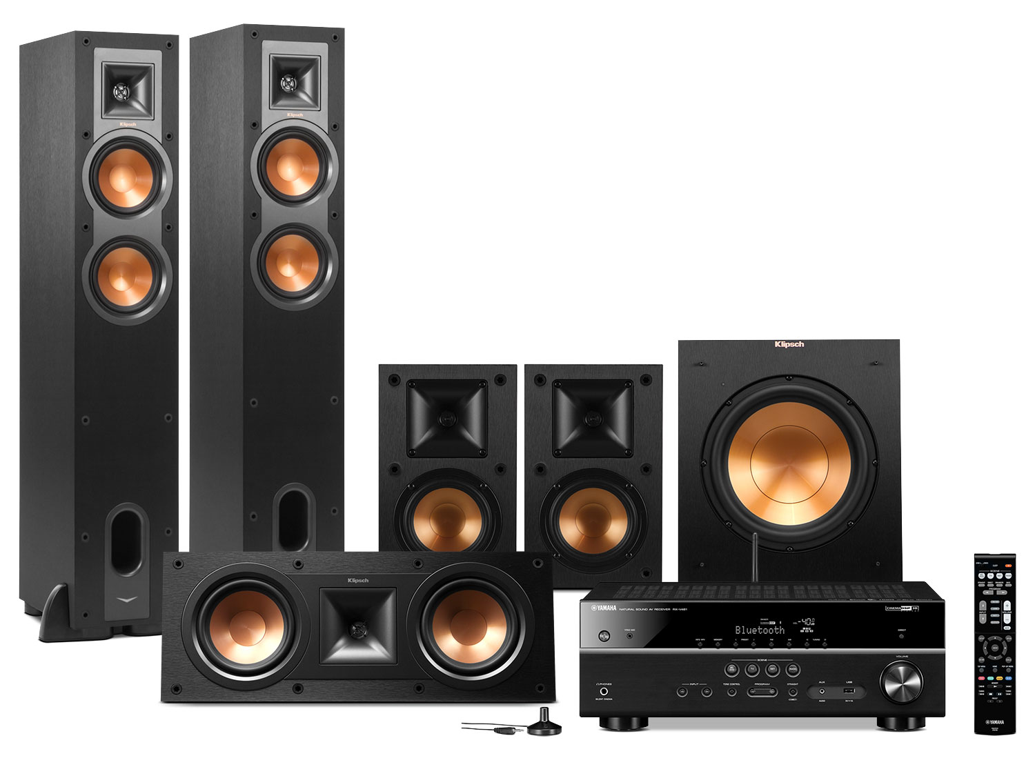 Yamaha RX-V481 Home Theatre Package with Klipsch Speakers