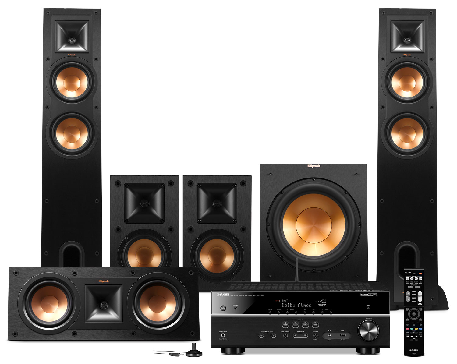 Yamaha RX-V581 Home Theatre Package with Klipsch Speakers