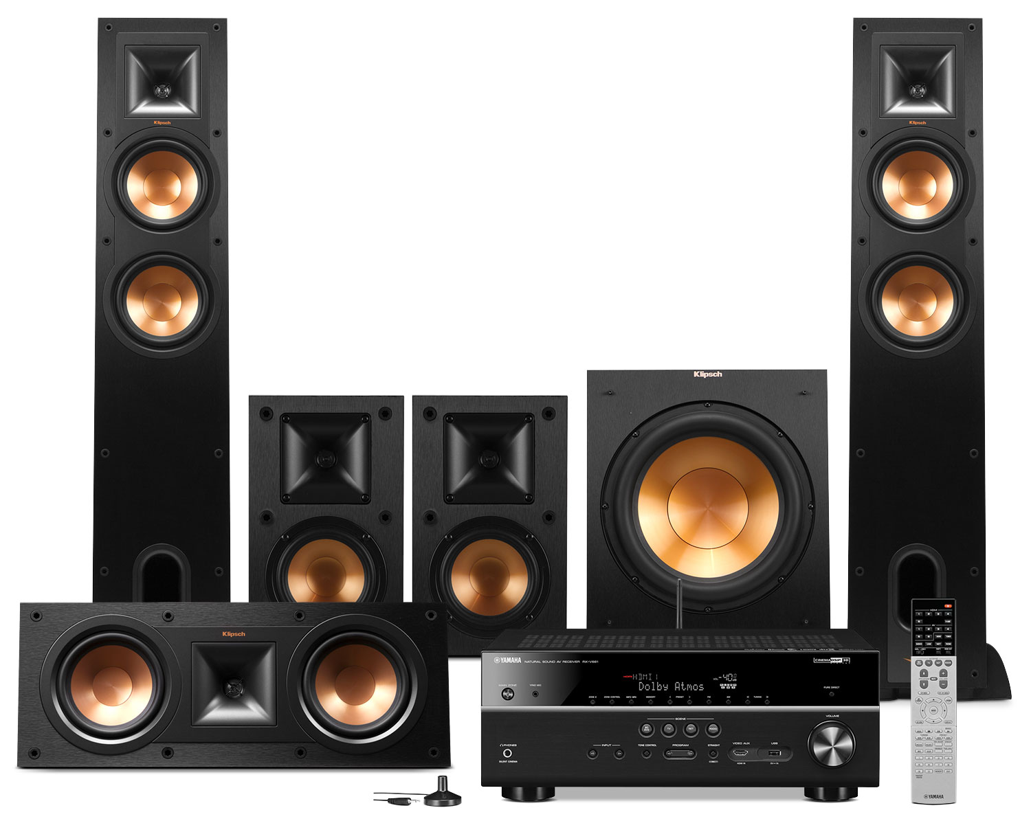 Sound Systems - Yamaha RX-V681 Home Theatre Package with Klipsch Speakers