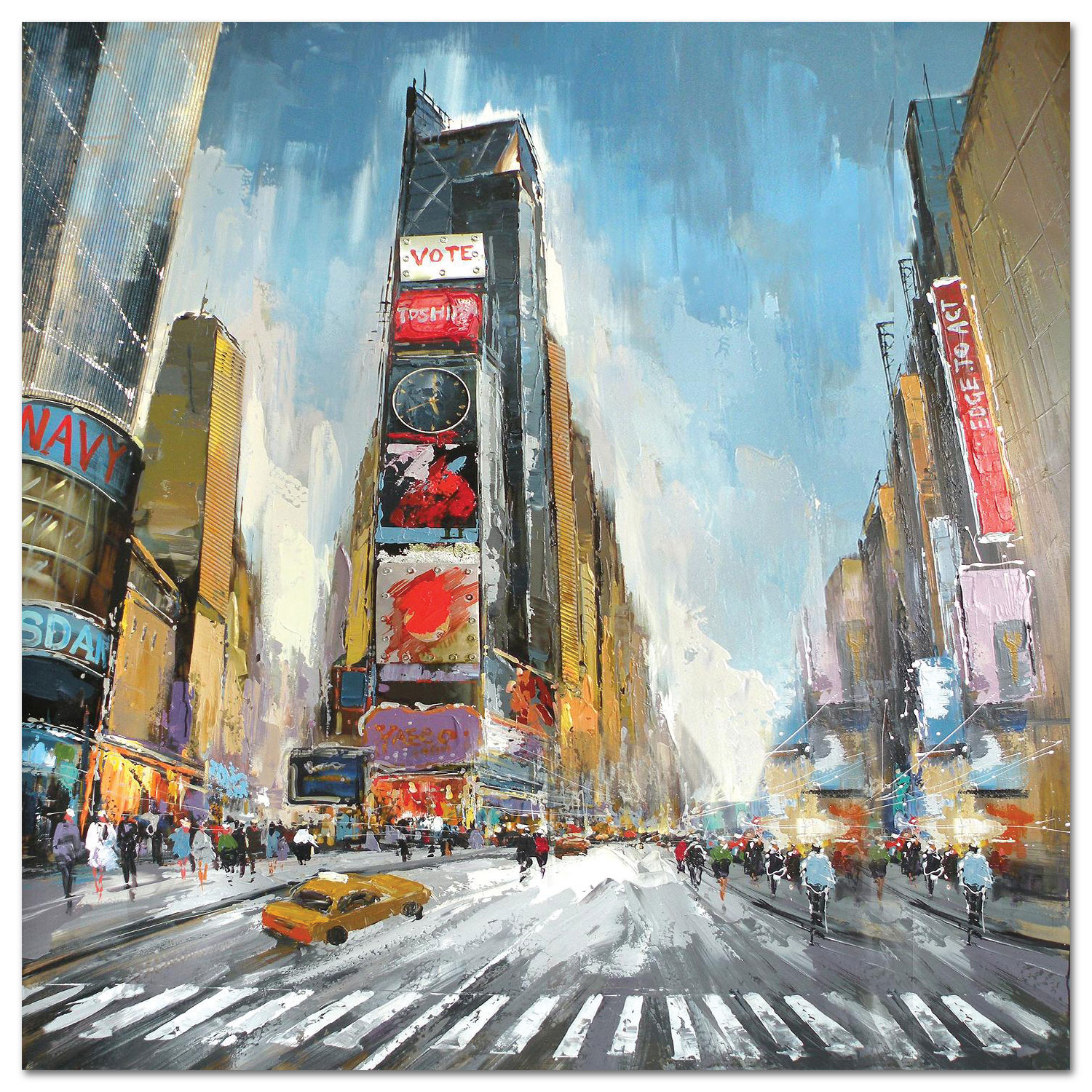 "Accent and Occasional Furniture - Times Square Canvas Art (40"" X 40"")"