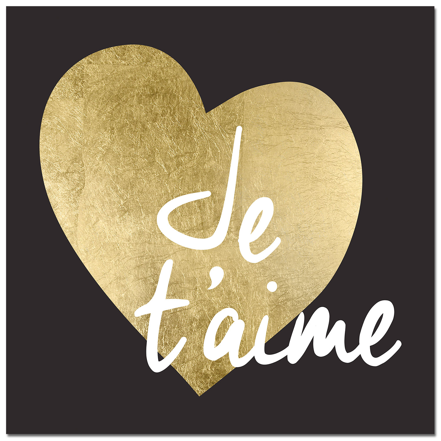 "Accent and Occasional Furniture - Je t'aime Canvas Art (40"" X 40"")"