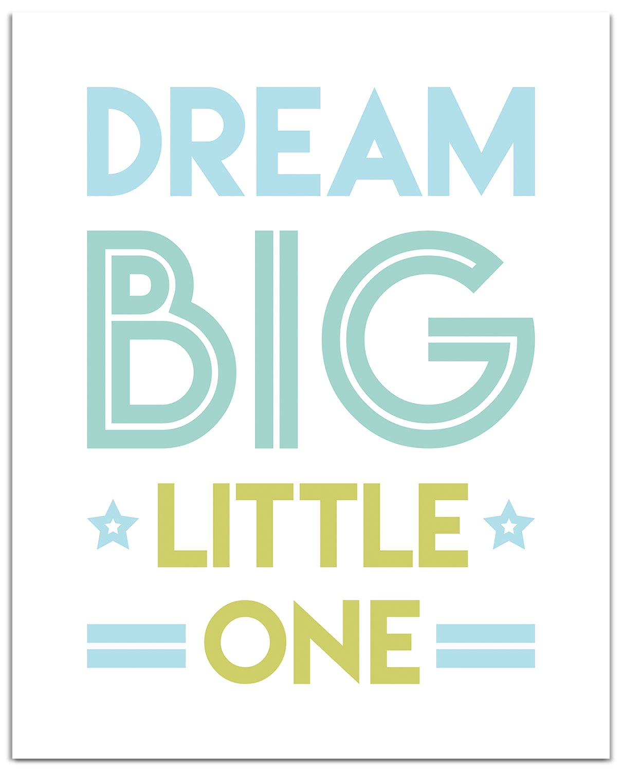 "Dream Big Blue Canvas Art (16"" X 20"")"