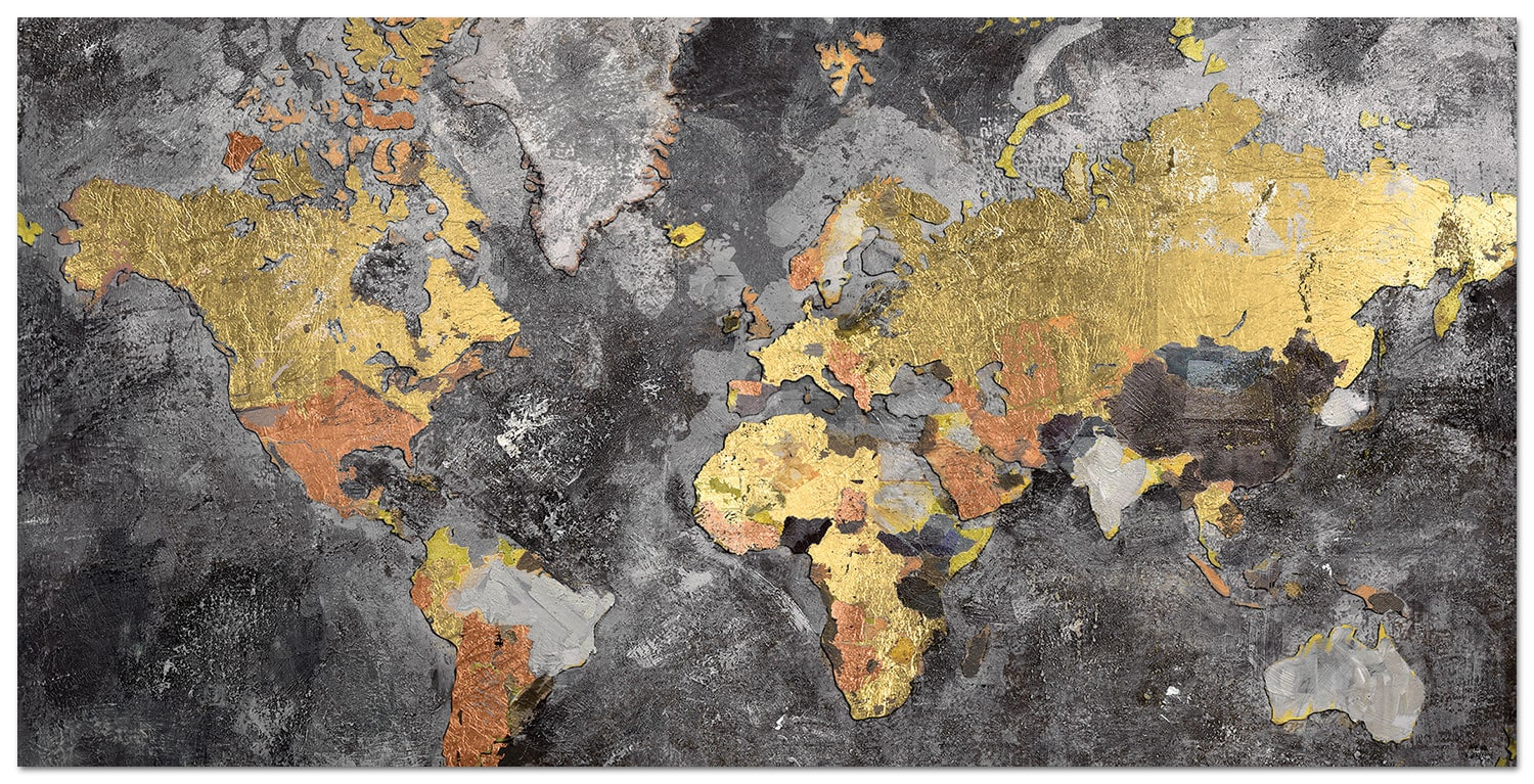 "We Are The World Canvas Art  (60"" X 30"")"