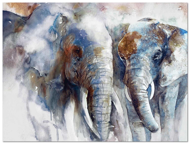 """Elephants Canvas Art (48"""" X 36"""")"""