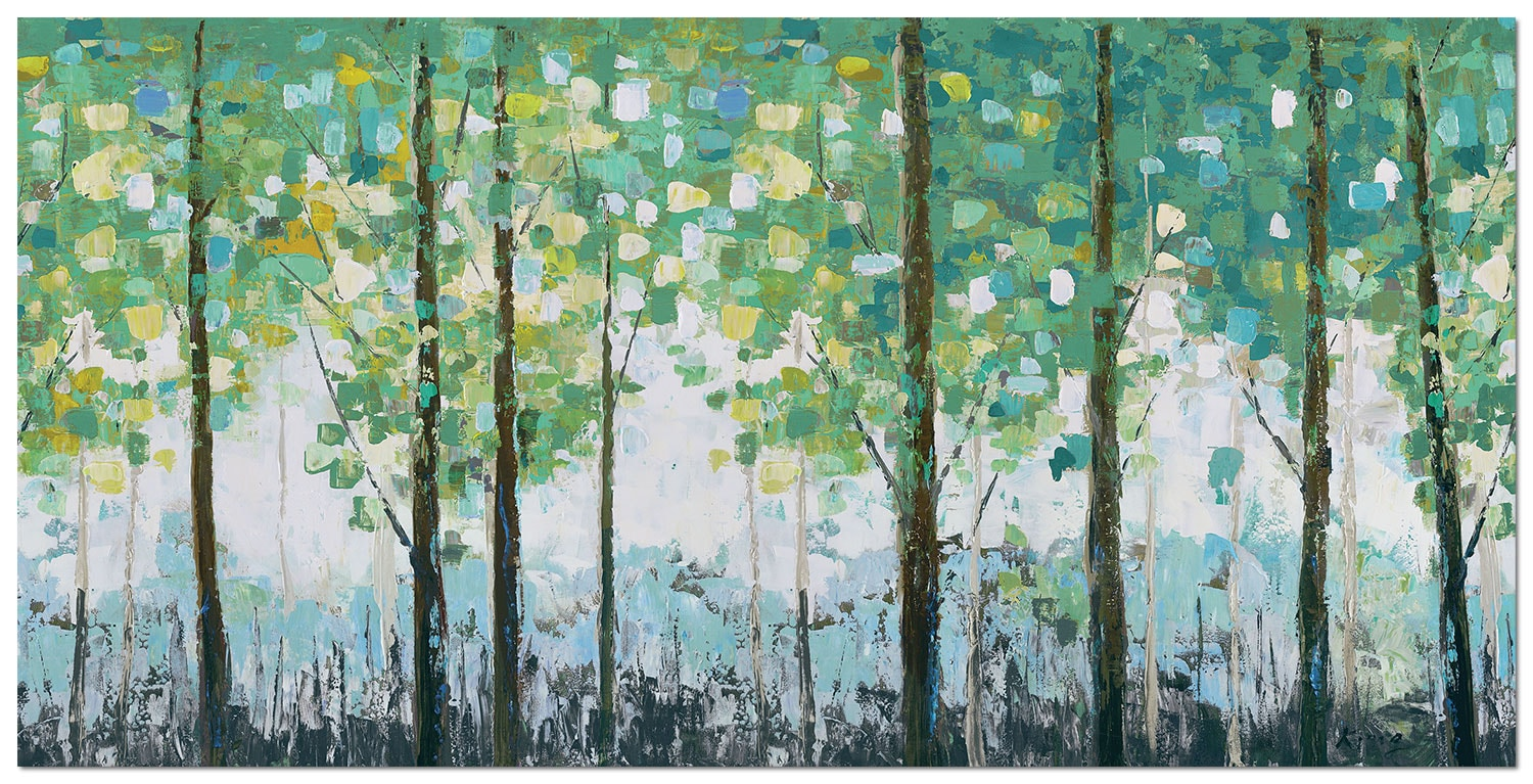 "Spring Leaves Canvas Art (60"" X 30"")"