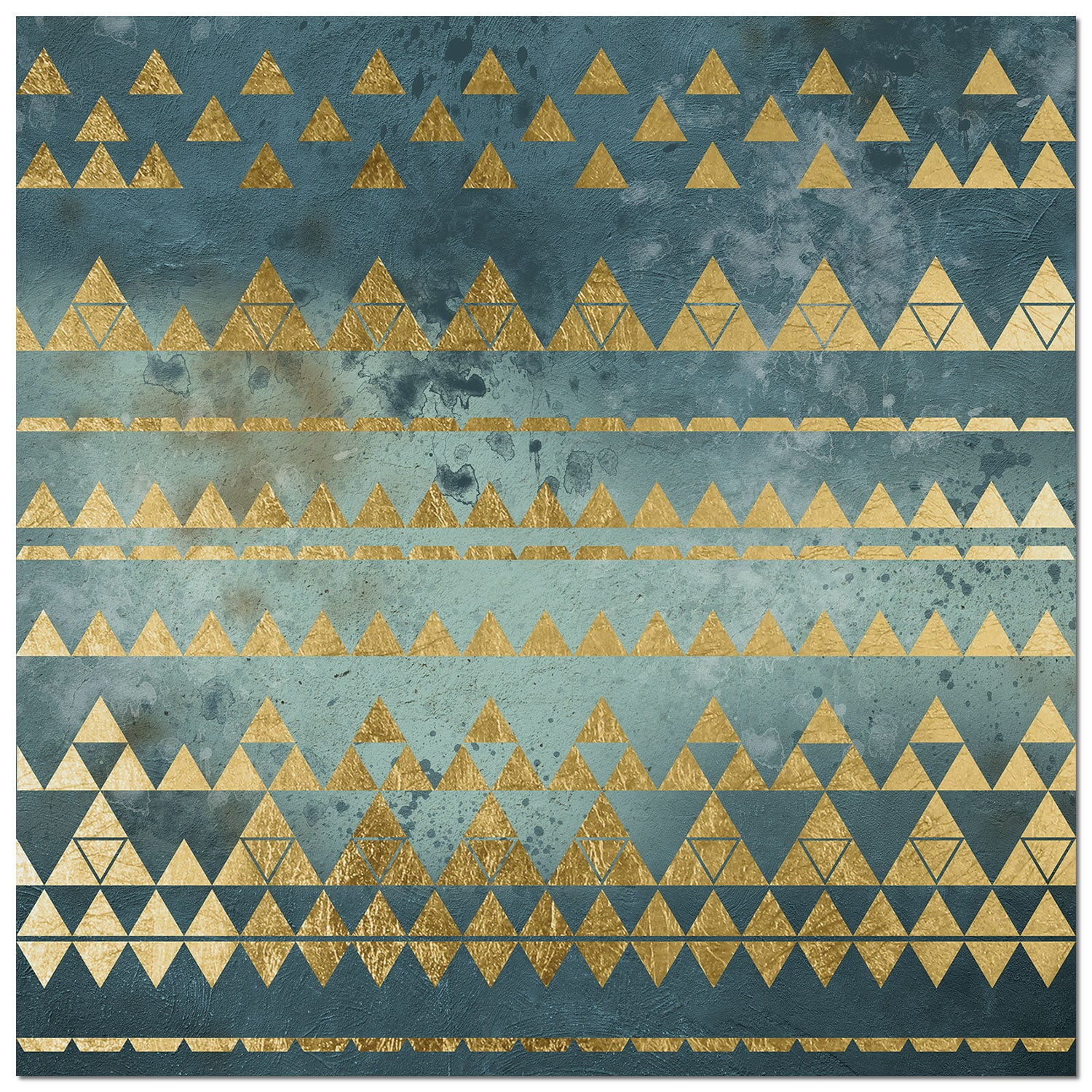 "Accent and Occasional Furniture - Triangles Canvas Print (40"" X 40"")"