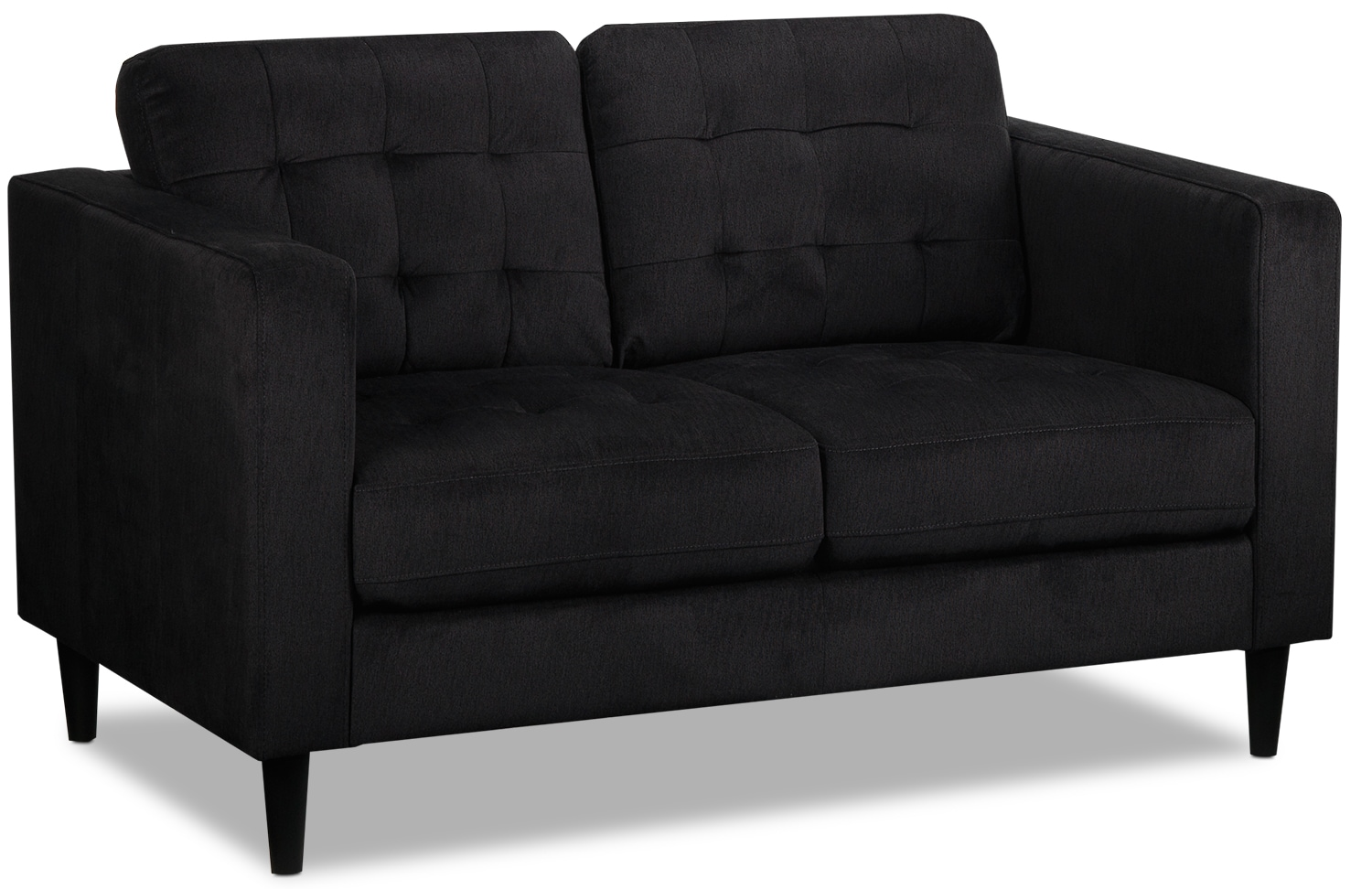 Living Room Furniture - Anthena Loveseat - Charcoal