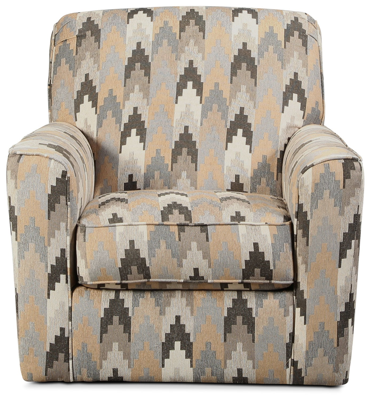 Ferron Swivel Accent Chair - Southwestern