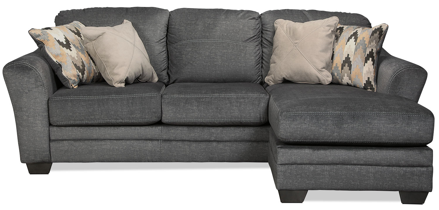 Ferron Queen Chaise Sleeper Sofa - Charcoal