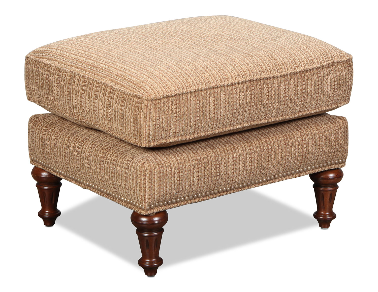 Living Room Furniture - Sloan Accent Ottoman - Russet