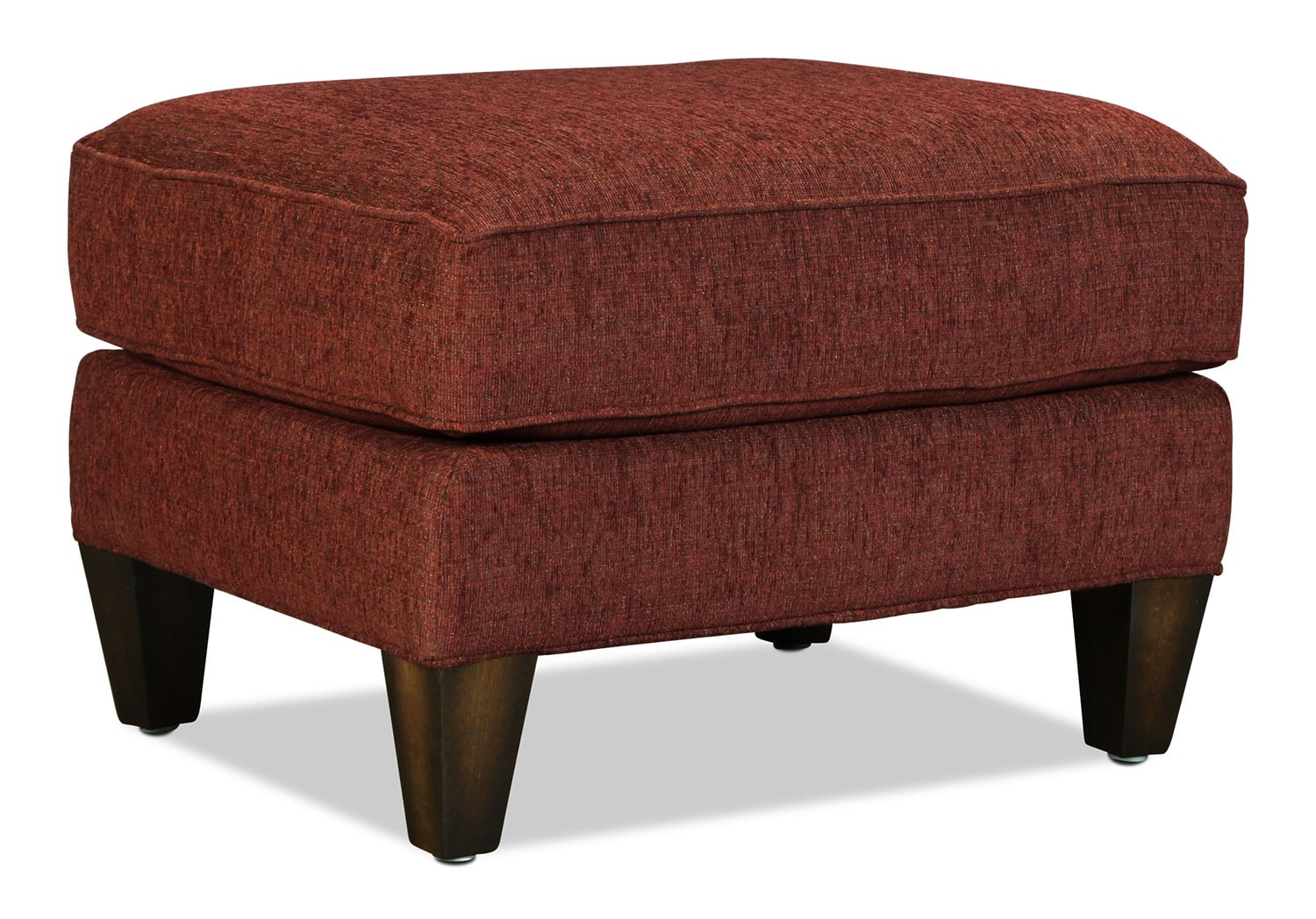sloan ottoman burgundy levin furniture