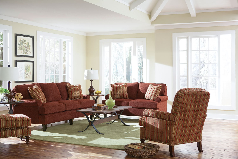 Sloan sofa burgundy levin furniture for Levin furniture living room sets