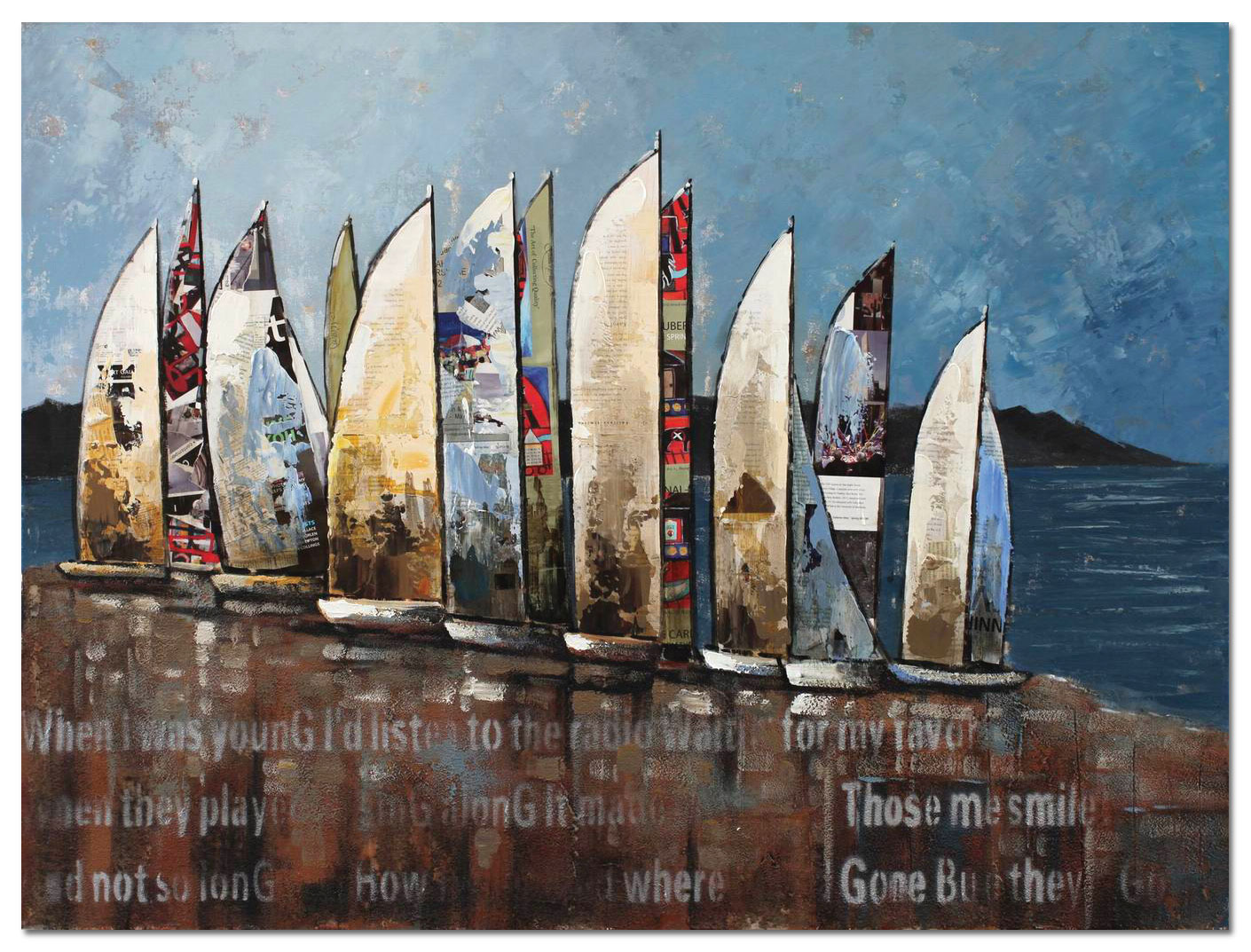 "Accent and Occasional Furniture - Sail Canvas Art (48"" X 36"")"