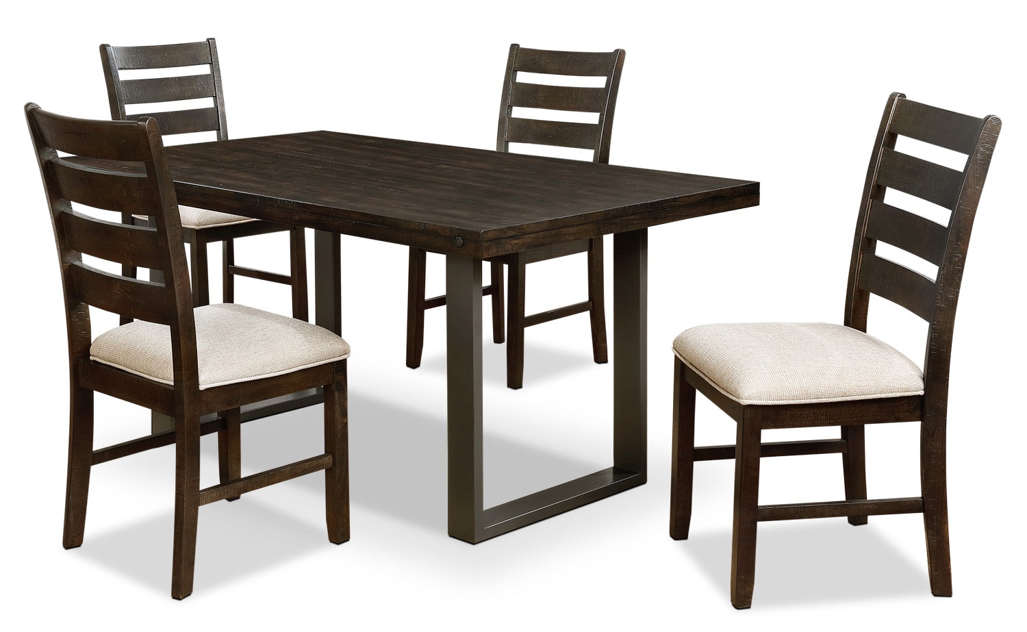 Jasper 5 piece dining package the brick for Dining room tables the brick