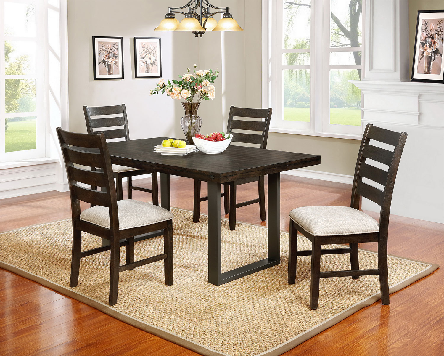 Jasper 5 piece dining package the brick for The brick dining room sets