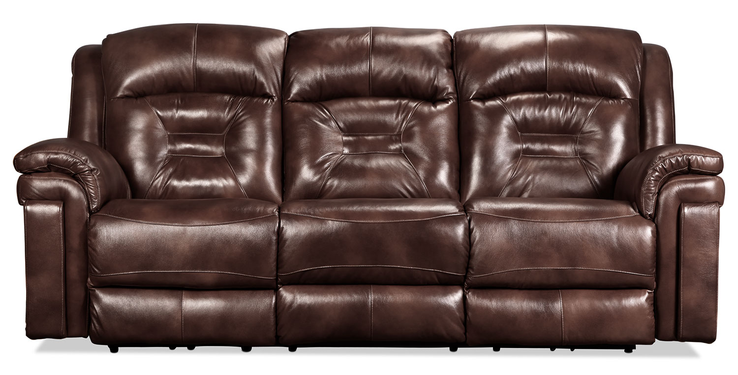 Mystify Power Reclining Sofa - Brown