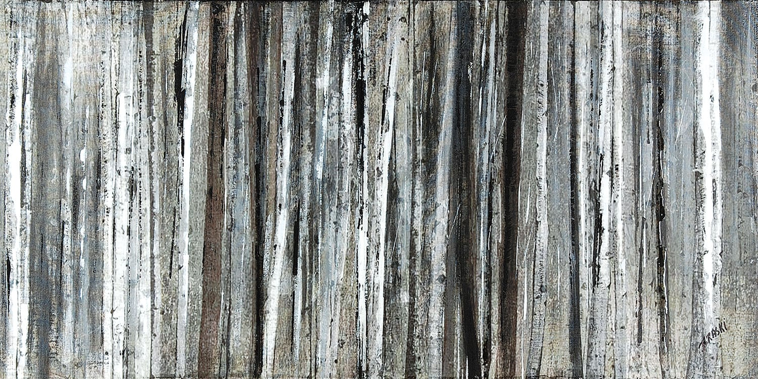 "Birch Blur Wood Canvas Art (60"" X 30"")"