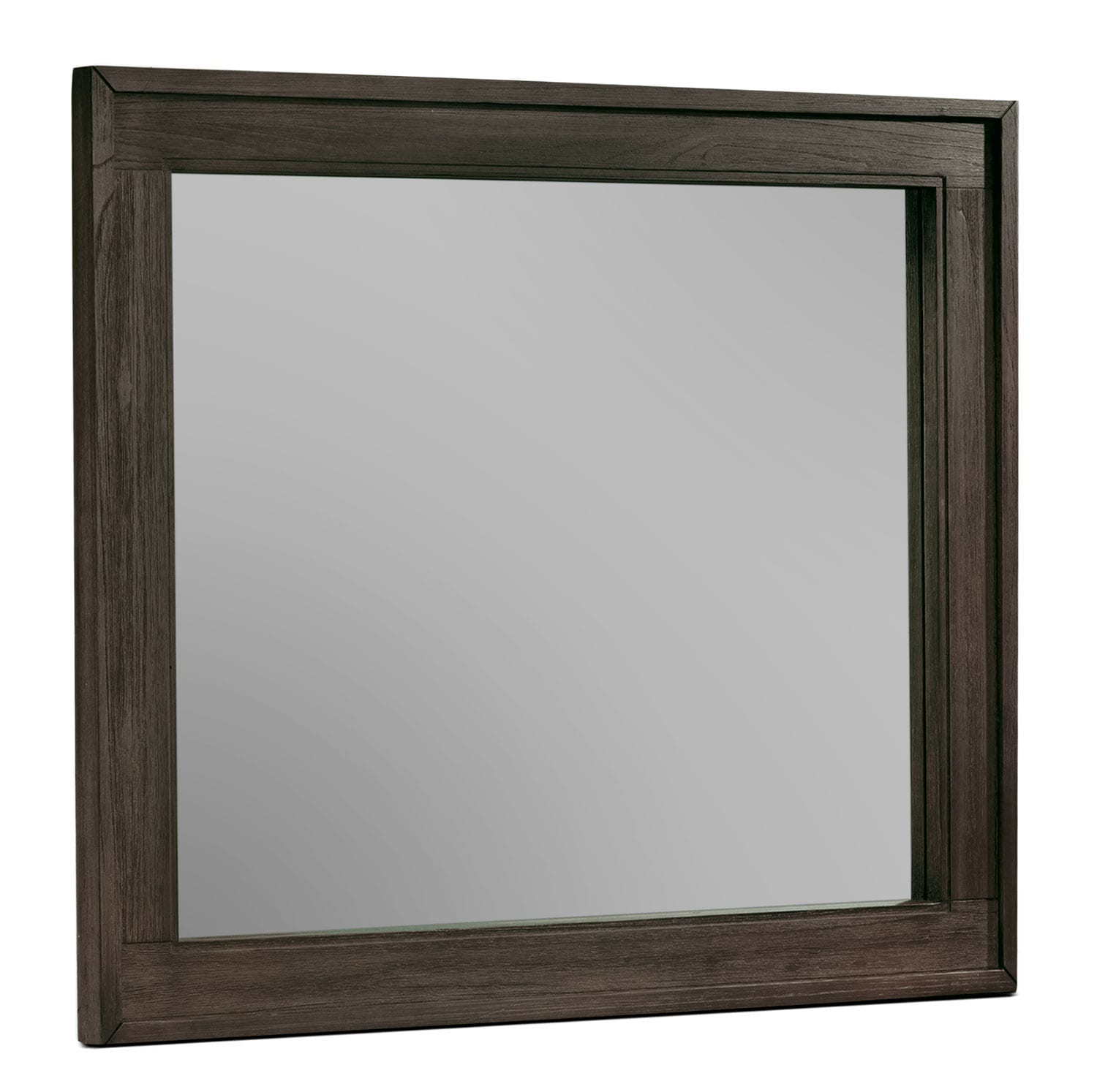 Bedroom Furniture - Bravo Landscape Mirror - Platinum Oak
