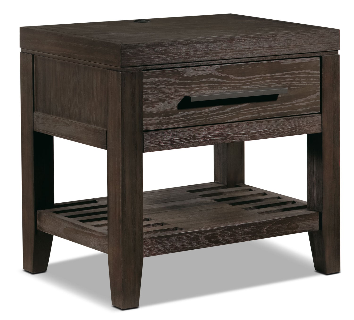 Bravo Night Table - Platinum Oak