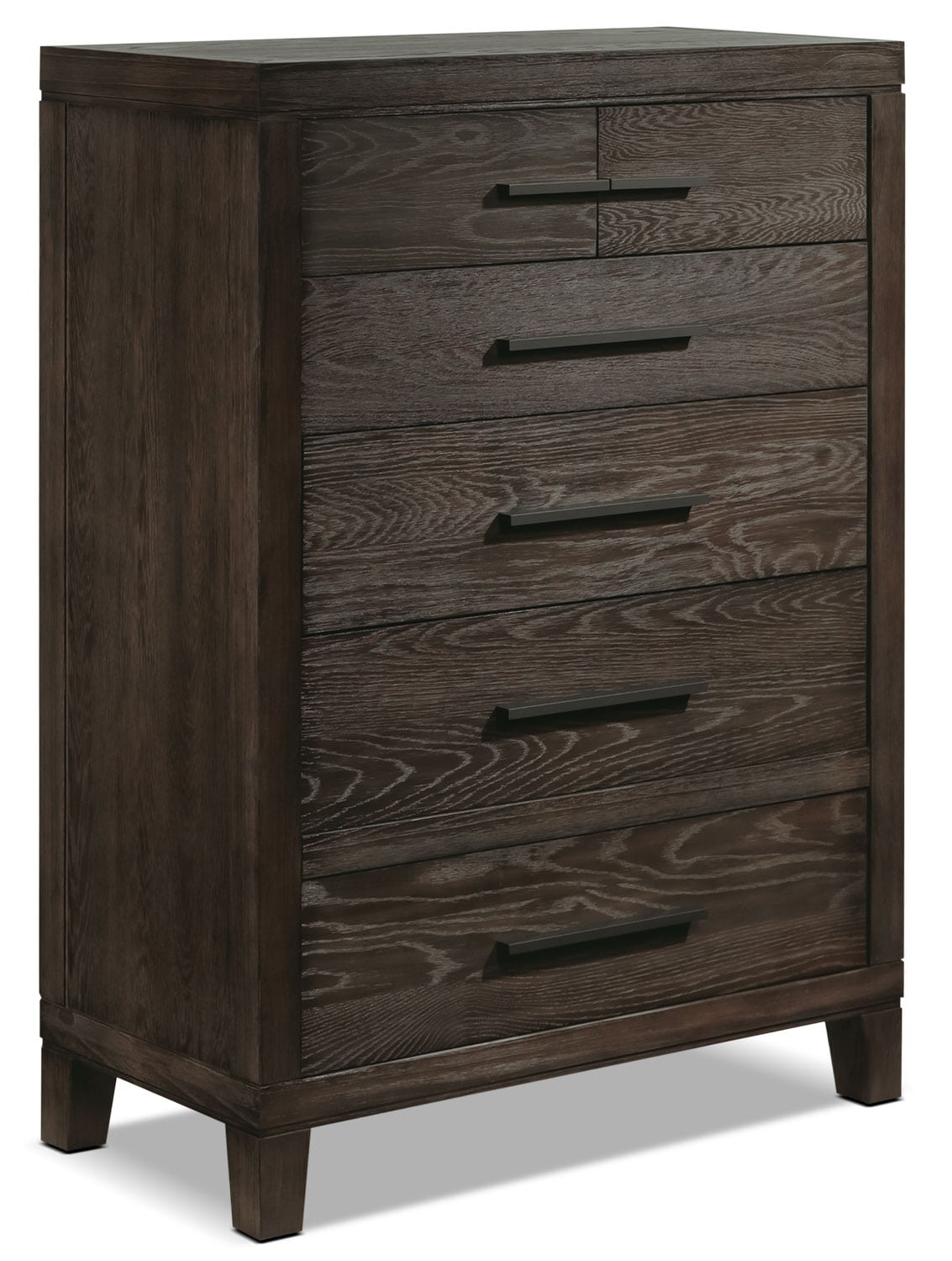 Bedroom Furniture - Bravo 6-Drawer Chest - Platinum Oak