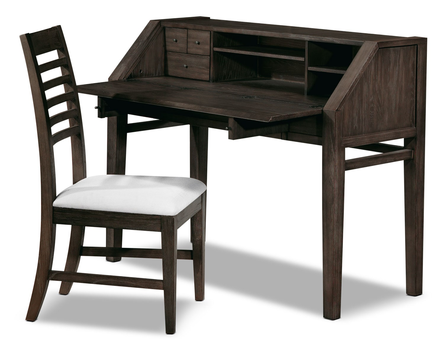 Bedroom Furniture - Bravo 2-Piece Desk and Chair Set - Platinum Oak