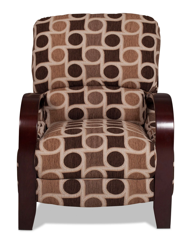 Camas High-Leg Recliner - Café Chocolate Geometric