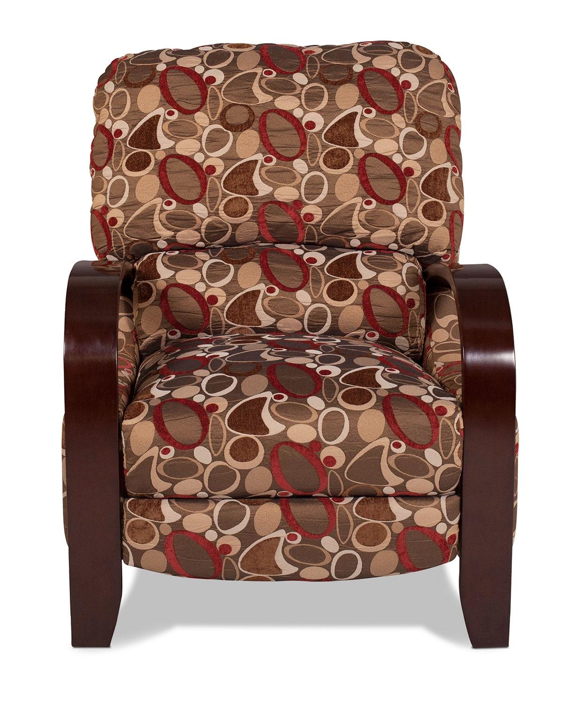 Living Room Furniture - Camas High-Leg Recliner - Geometric