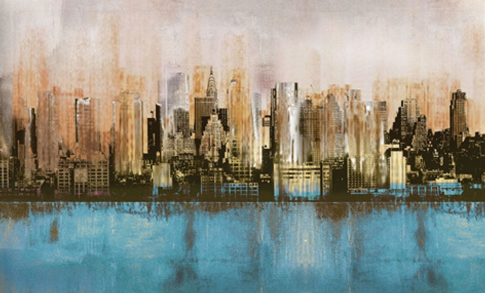 "Urban Reflection Canvas Art (60"" X 30"")"